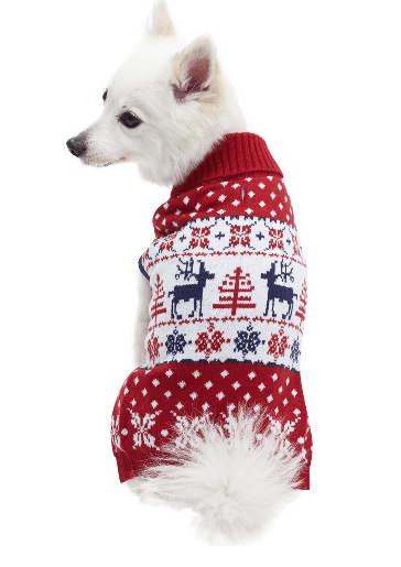 Reindeer pullover Christmas Sweater for dogs