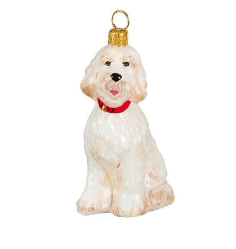 Goldendoodle Dog Christmas Ornament