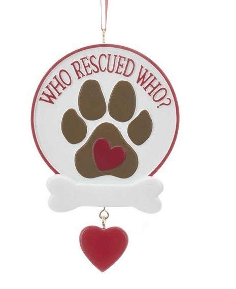 Who Rescued Who ornament