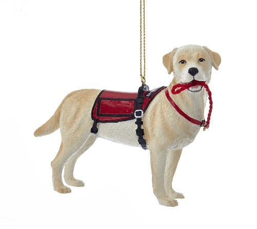 Service Dog Christmas Ornament