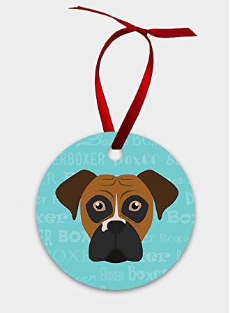 Boxer Dog Christmas Ornament