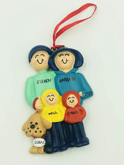 Family Dog Ornament