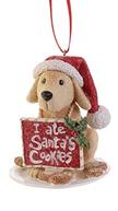Santa's helper dog ornament